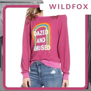 🆕 NWT WILDFOX Dazed And Amused Baggy Beach Jumper
